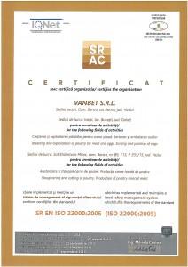 SR EN ISO 22000:2005