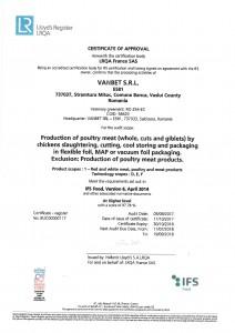 Vanbet Certificat IFS FOOD