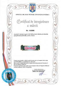 Certificat de inregistrare marca Vanbet